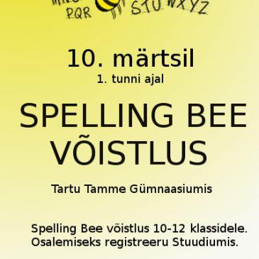Spelling Bee võistlus 10. märtsil