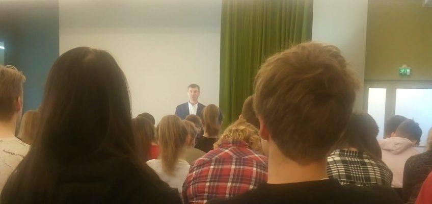 Infotehnoloogiasuuna õpilased kohtusid Andrus Ansipiga
