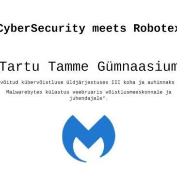 Meie õpilased osalesid edukalt küberturvalisuse võistlusel