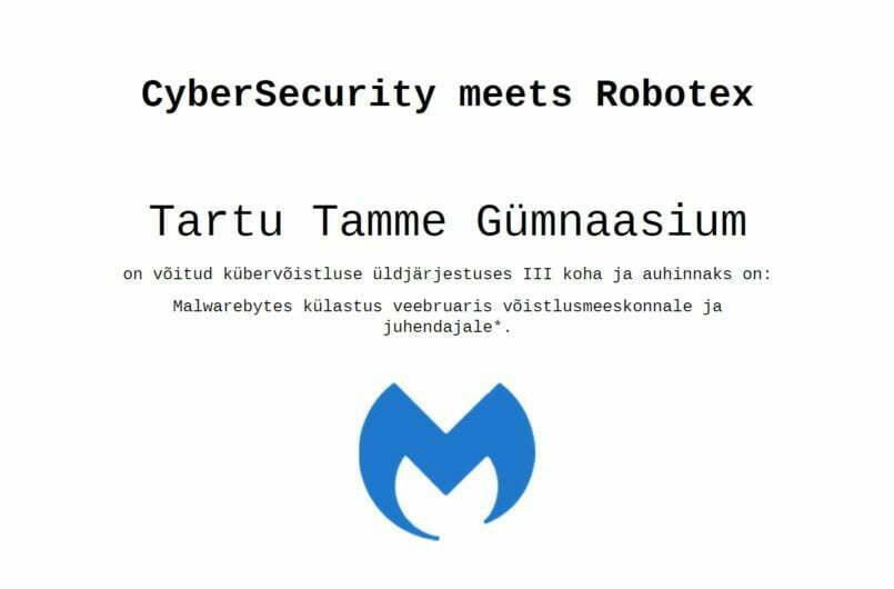 (EST) Meie õpilased osalesid edukalt küberturvalisuse võistlusel