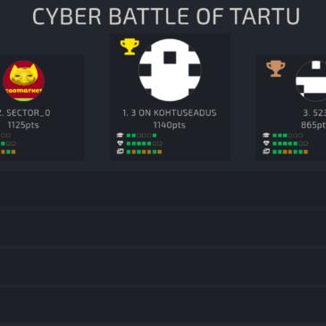 Meie õpilased edukad võistlusel Cyber Battle of Tartu
