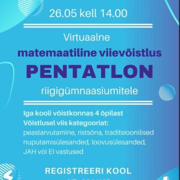 1.-2. koht matemaatikavõistlusel Pentatlon